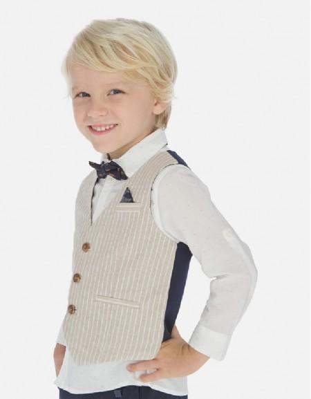 Parchment Tailored linen vest