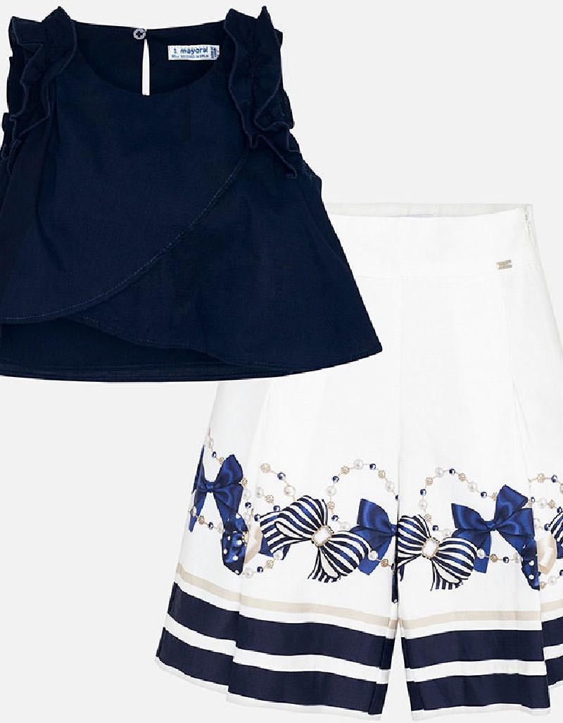 Navy Long pants set