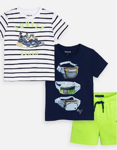 Neon Acid Knit set with 2 t-shirts