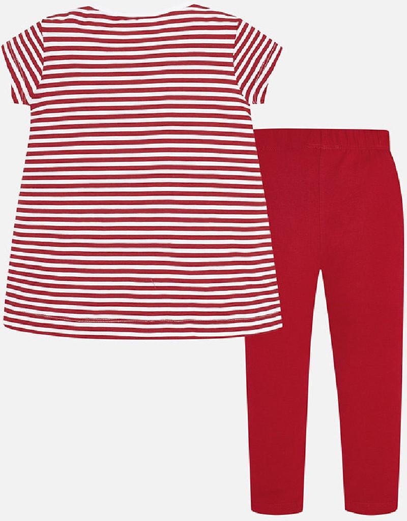 Red Stripes leggings set