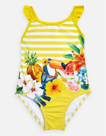 Yellow Graphic print swimsuit