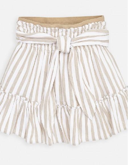 Sand Elastic waist skirt