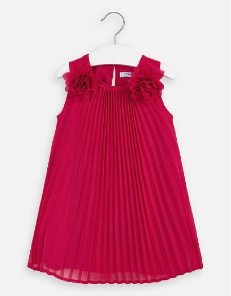 Strawberry Pleated flowers dress