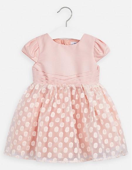 Peach Organza dress