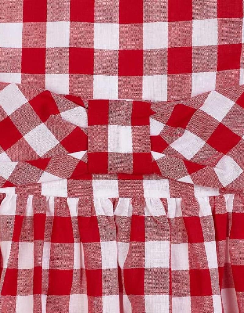 Red Vichy dress