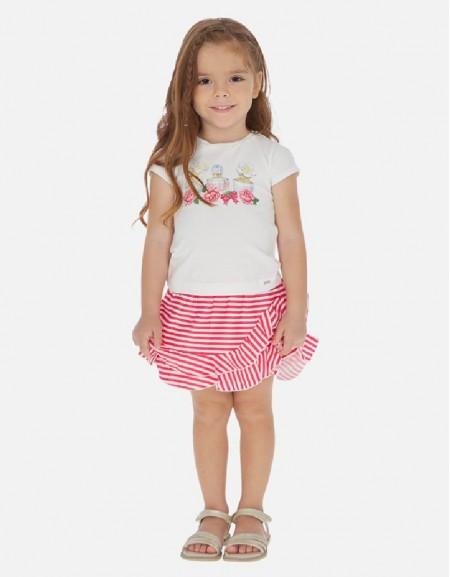 Strawberry Striped skirt set