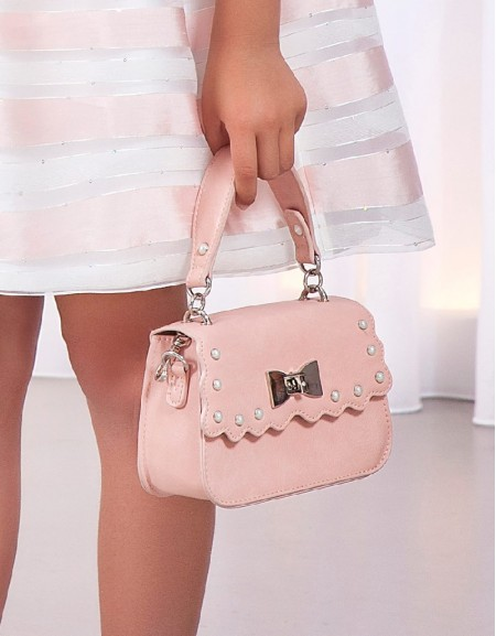 Rose Pearl leatherette bag