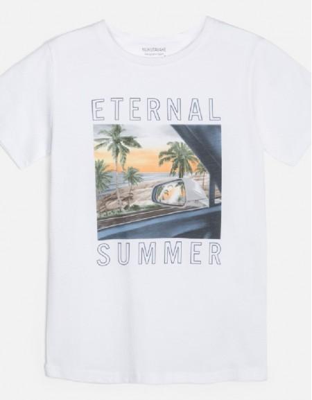 White Eternal summer t-shirt s/s