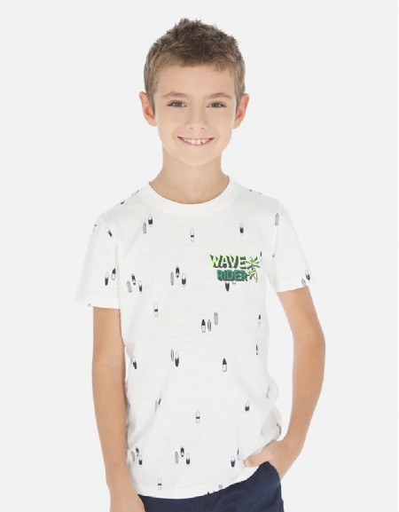 Cream Printed s/s t-shirt