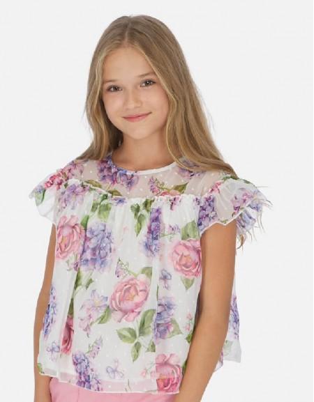 Hollyhock Printed plumeti blouse