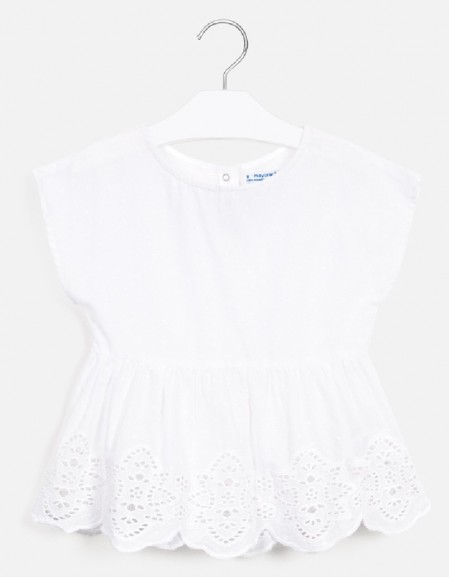 White Loose voile shirt