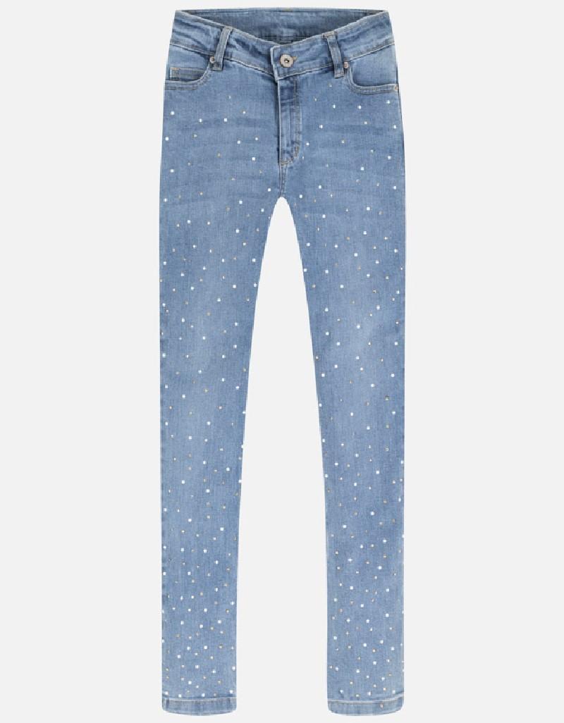 Bleached Denim long trousers