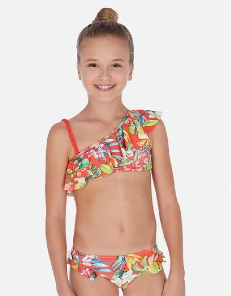 Persimmon Ruffled bikini