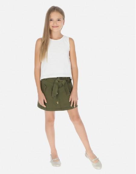 Green Twill skirt