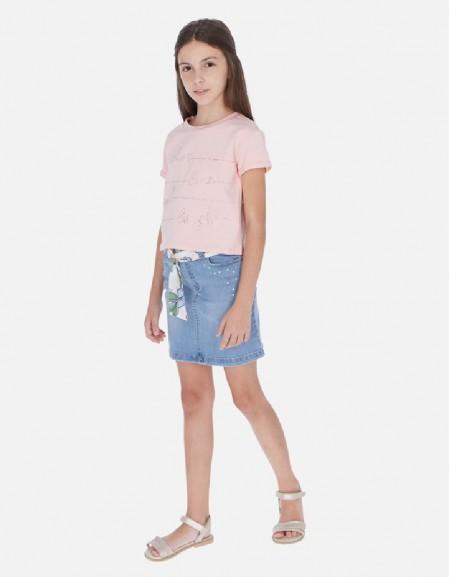 Bleached Denim skirt