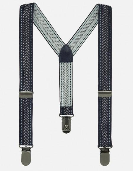 Navy-White Straps