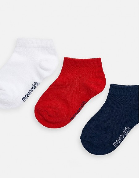 Hibiscus 3-pc short socks set