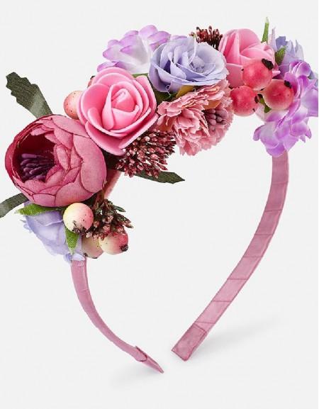 Hollyhock Flowers headband