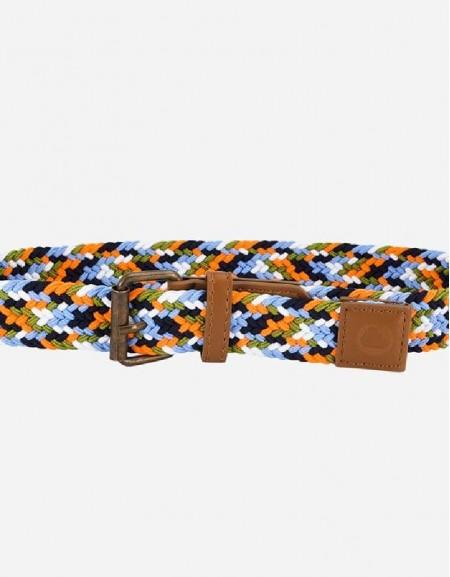 Orange Multicolor braided belt