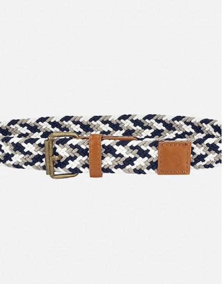 Navy Multicolor braided belt
