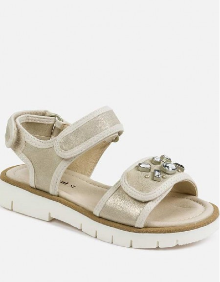 Champagne Velcro sandals