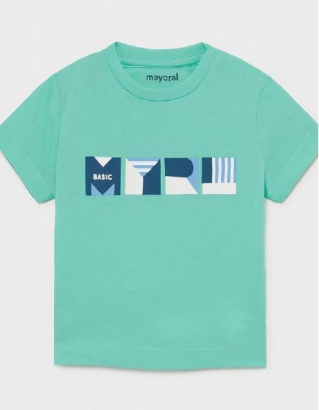 Aqua Shortsleeved Basic T-Shirt