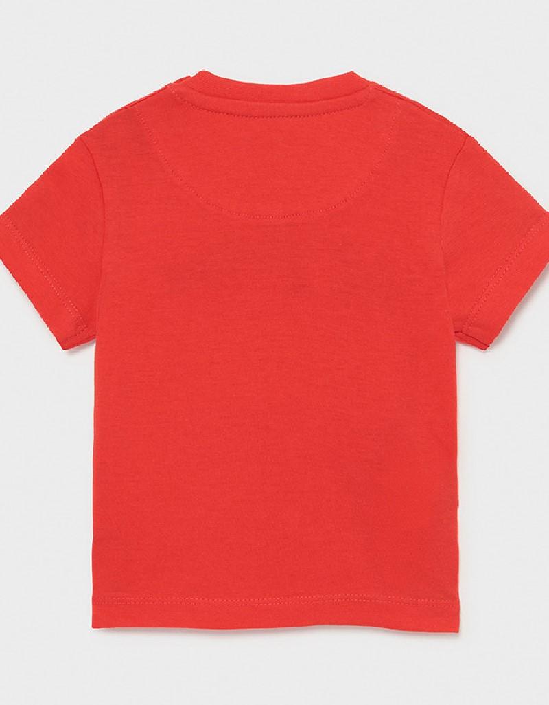 Cyber Red Shortsleeved Basic T-Shirt
