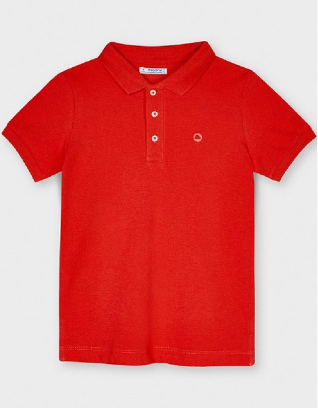Cyber Red Basic Granite Polo