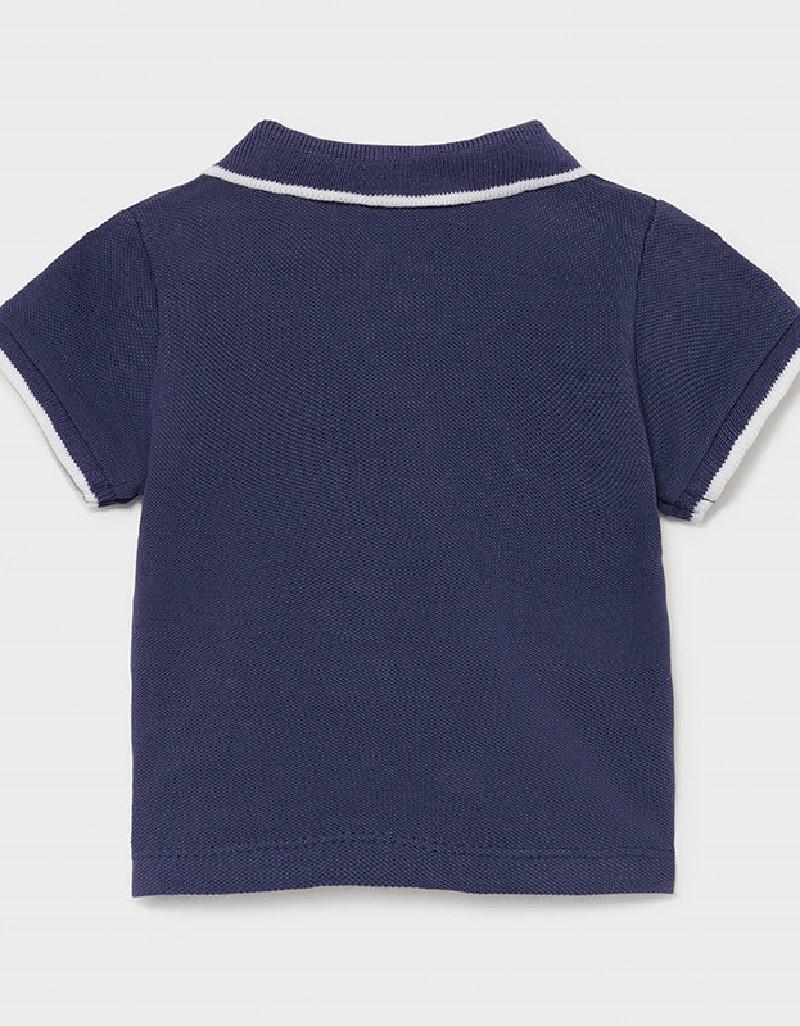 Navy Short Sleeved Basic Polo Shirt