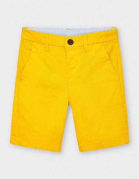 Yellow Basic Twill Chino Shorts
