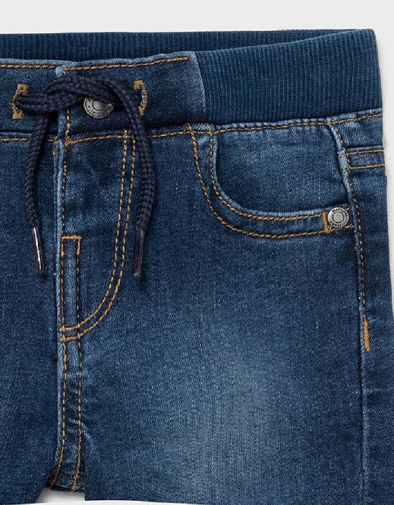 Dark Basic Denim Bermuda Shorts