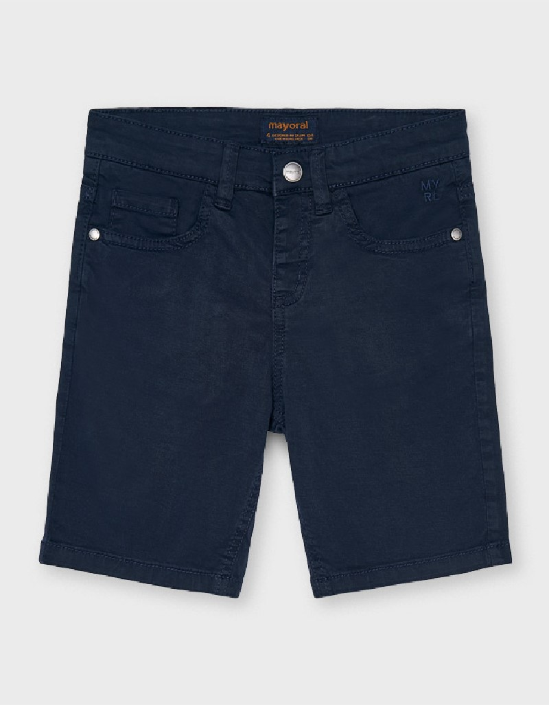 Navy Basic 5 Pockets Twill Shorts