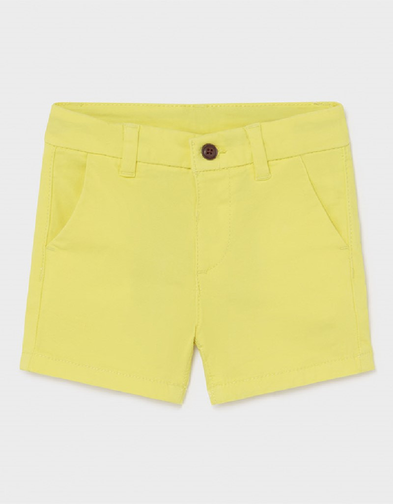 Lime Basic Chino Twill Shorts