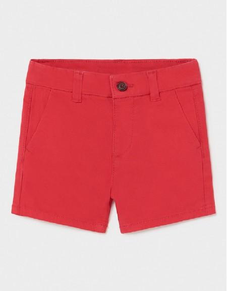 Red Basic Chino Twill Shorts