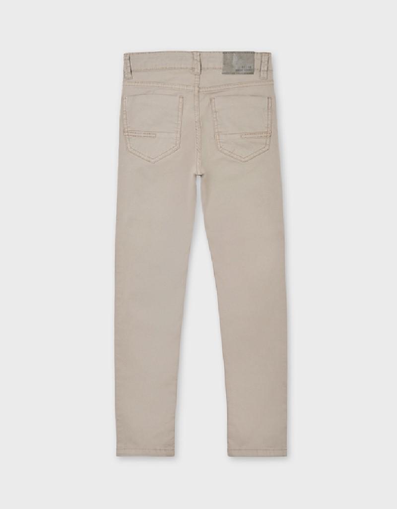 Beige 5 Pocket Slim Fit Basic Pant