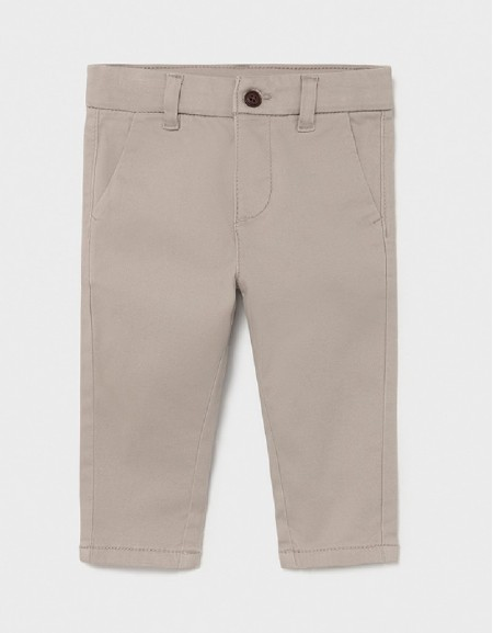Sand Twill Basic Trousers