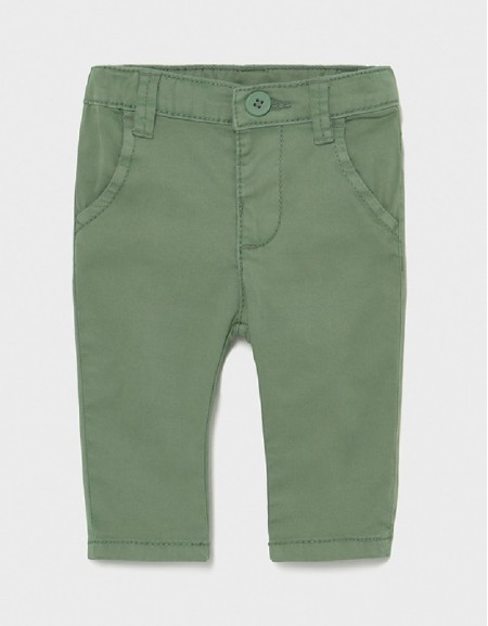Bamboo Twill Basic Trousers