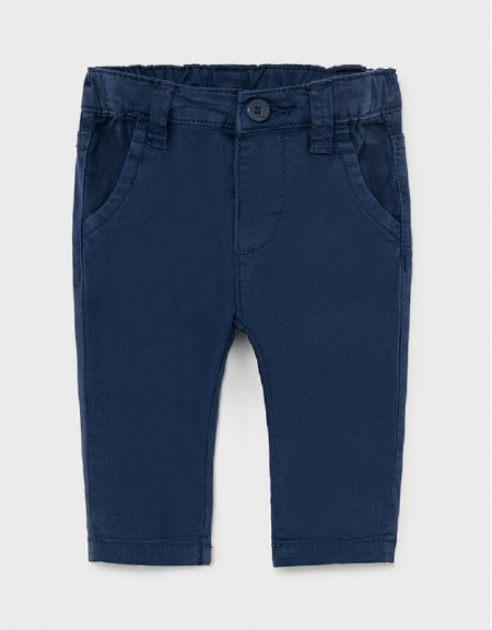 Navy Twill Basic Trousers