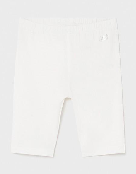 White Basic Short Leggings