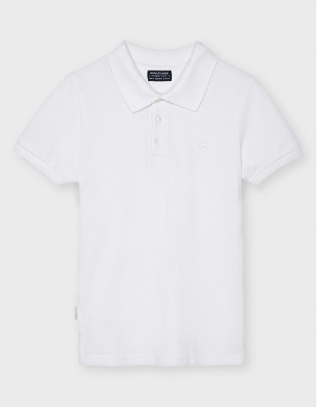 White Basic Granite Polo