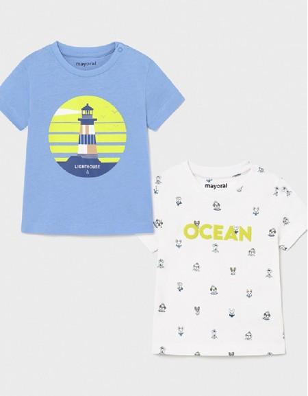 Lavender S/S 2 Pcs Printed T-Shirt Set
