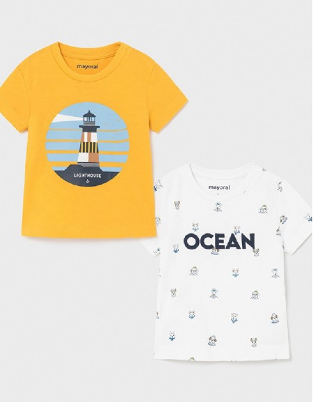 Mango S/S 2 Pcs Printed T-Shirt Set