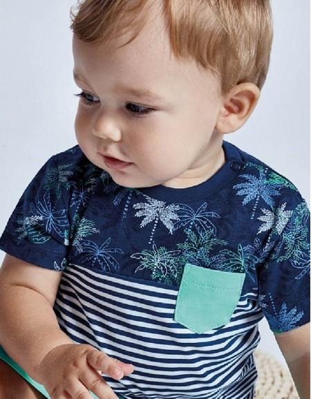 Blue S/S Blocks T-Shirt