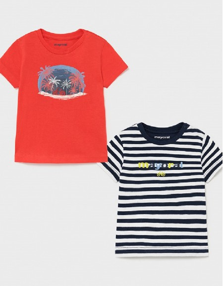 Cyber Red Set Of 2 T-Shirts