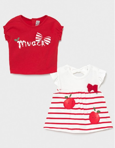Red Set Of 2 Short Sleeved T-Shirts
