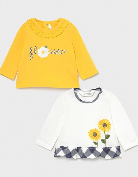 Yellow 2 L/S T-Shirts Set