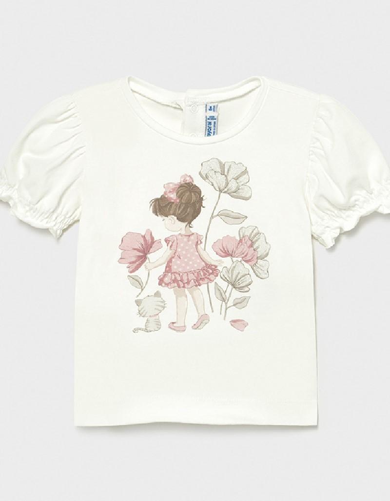 Natural S/S Printed Tshirt