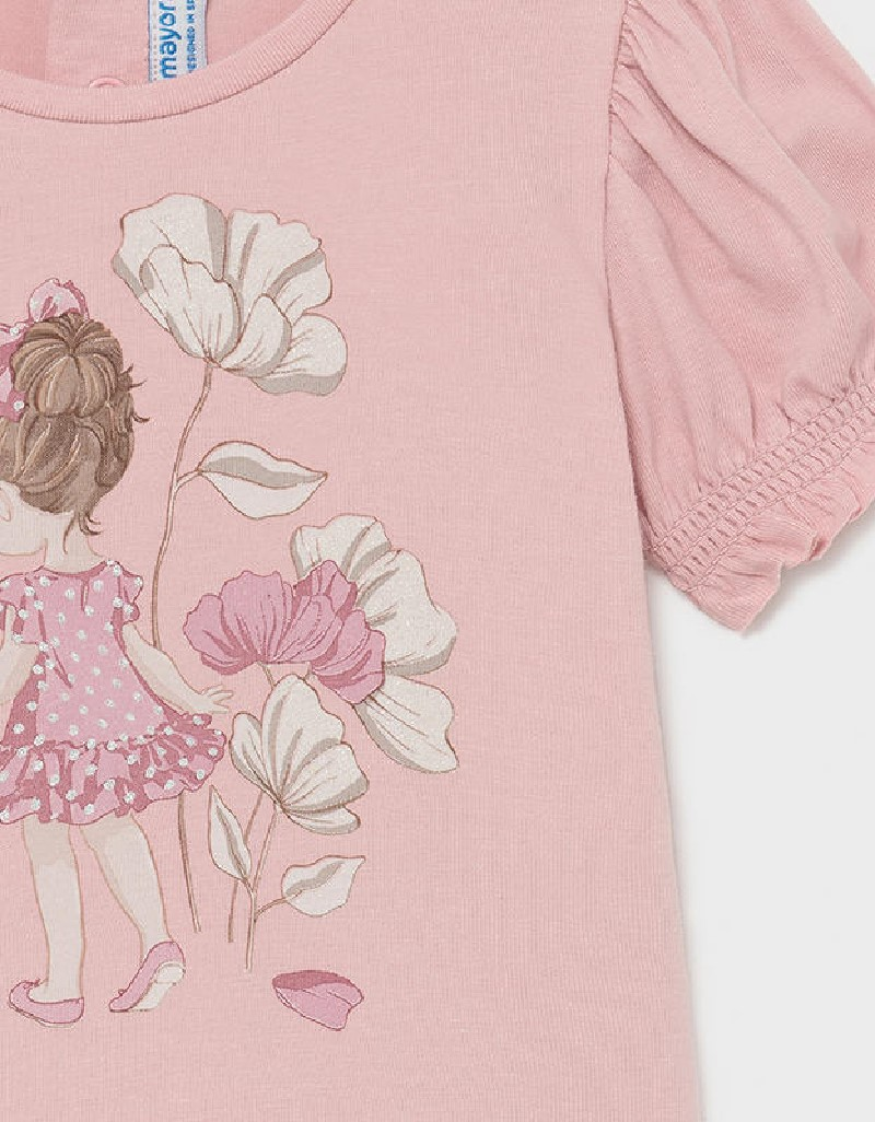 Pink S/S Printed Tshirt