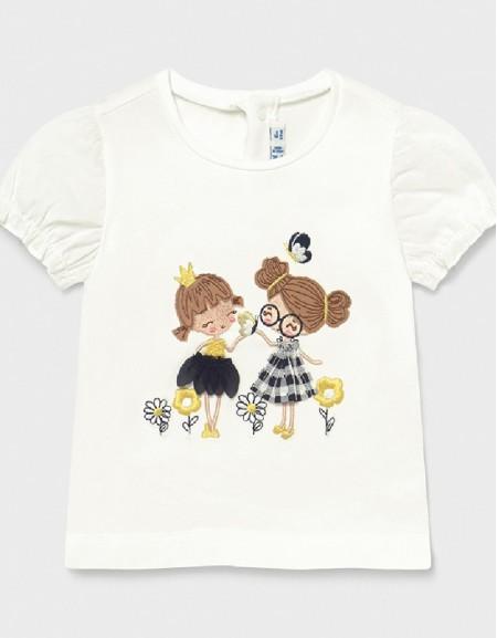 Whit-Navy S/S Printed Tshirt