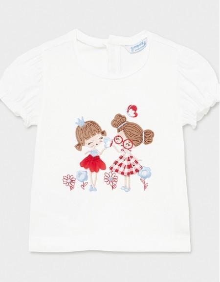 White Popp S/S Printed Tshirt